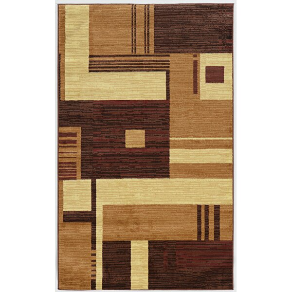 Allmon Brown/Rust Area Rug by Winston Porter