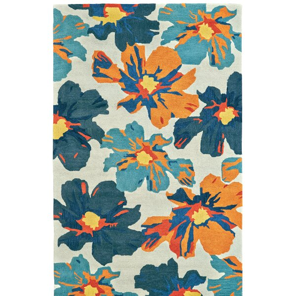Hand Tufted Beige/Blue Area Rug by Latitude Run