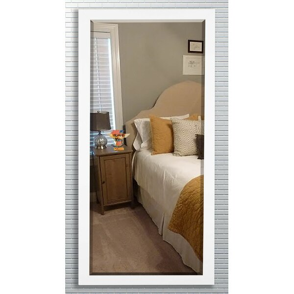 Beveled Satin white Wall Mirror by Darby Home Co