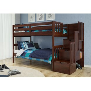 Comparison Vao Stairway Twin Over Twin Bunk Bed By Harriet Bee
