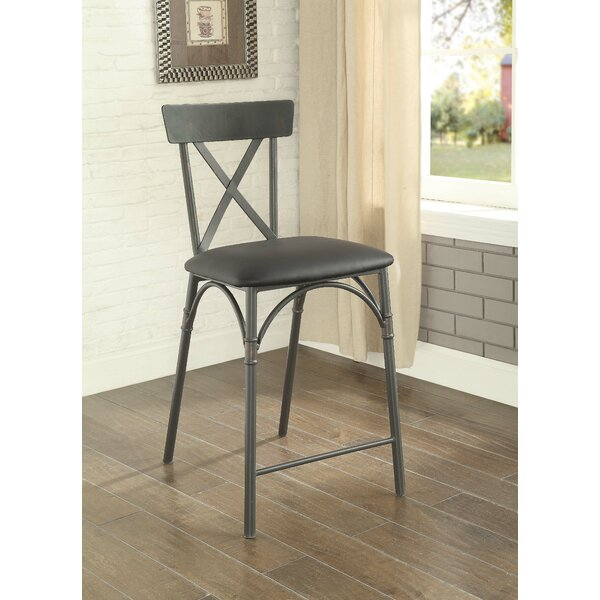 Christofor Counter Height Upholstered Dining Chairs (Set of 2) by 17 Stories