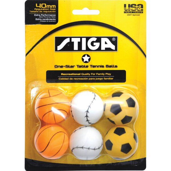 One-Star Sport Ball (Pack of 6) by Stiga