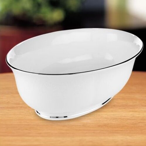 Hannah Platinum Open 9.5 Vegetable Bowl by Lenox