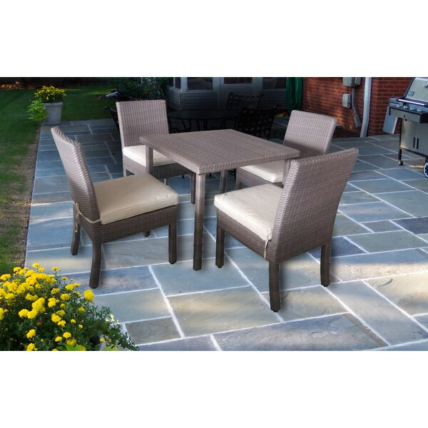Galina 5 Piece Dining Set with Cushions by Ivy Bronx