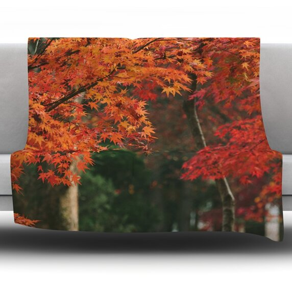Autumn Sonata by Catherine McDonald Fleece Throw Blanket by East Urban Home