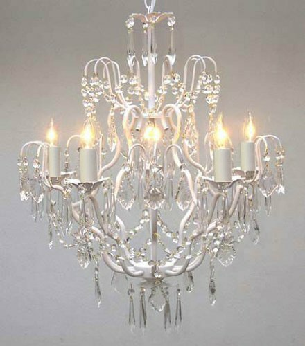 Clemence 5-Light White Hardwired Candle Style Chandelier by Rosdorf Park