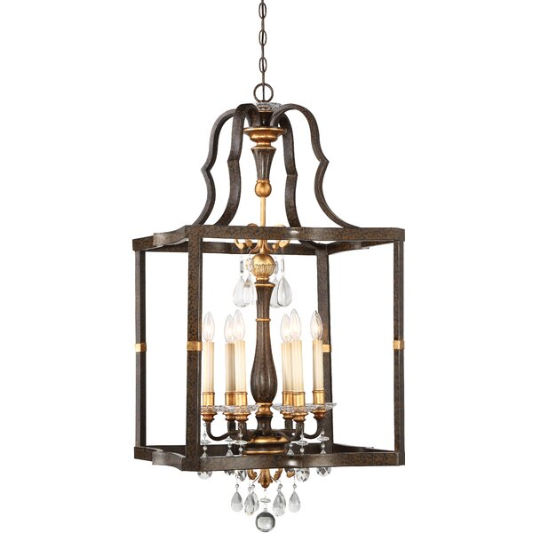 Chateau Nobles 6 - Light Lantern Square Chandelier by Metropolitan by Minka Metropolitan by Minka