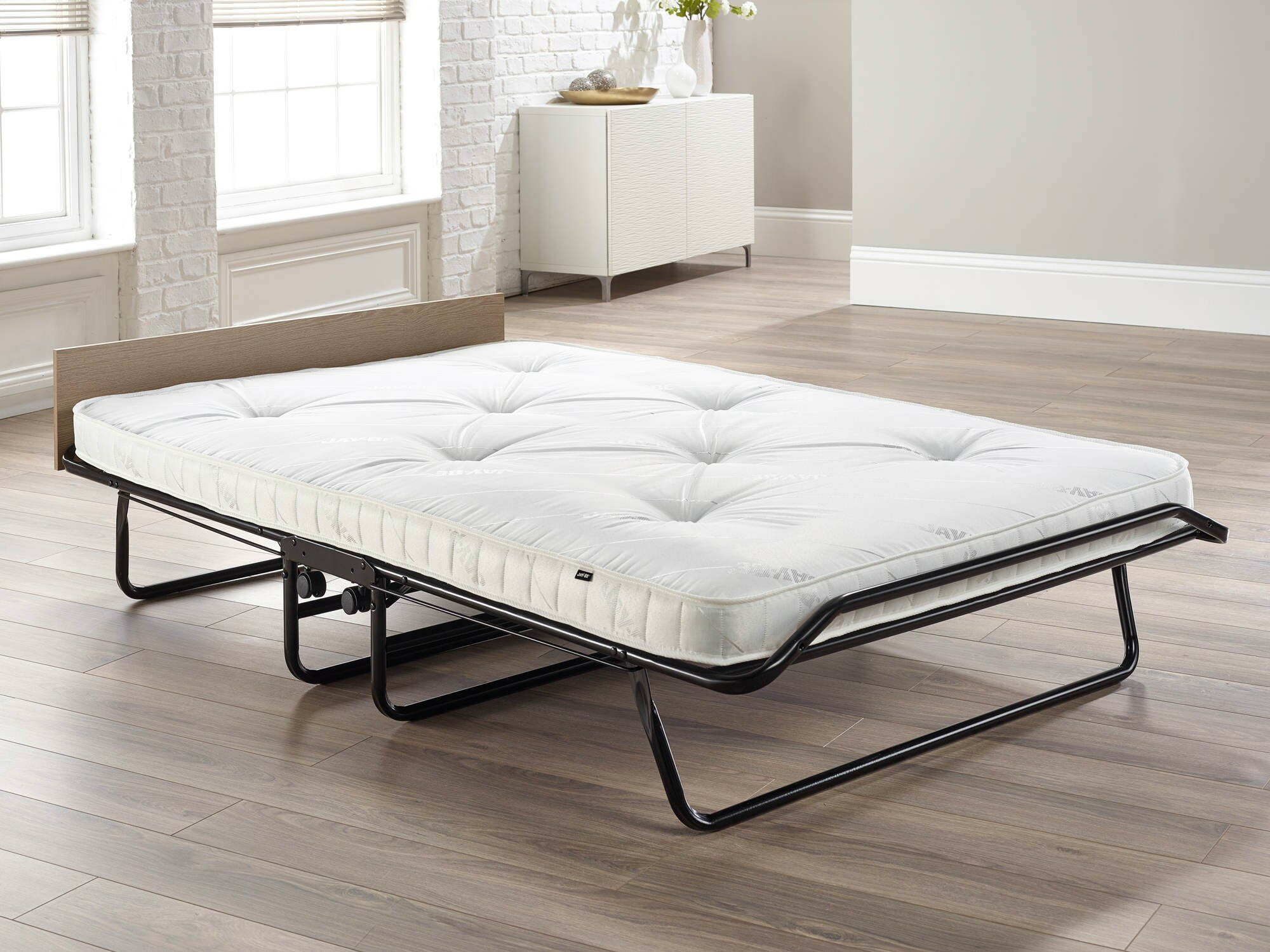 - Beds, Frames & Bases Bed & Mattress Sets Double Steel Black JAY-BE