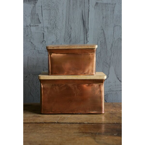 Tony Box Set with Lid (Set of 2) by Mint Pantry