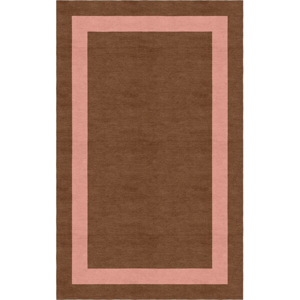 Ong Border Hand-Tufted Wool Brown/Peach Area Rug