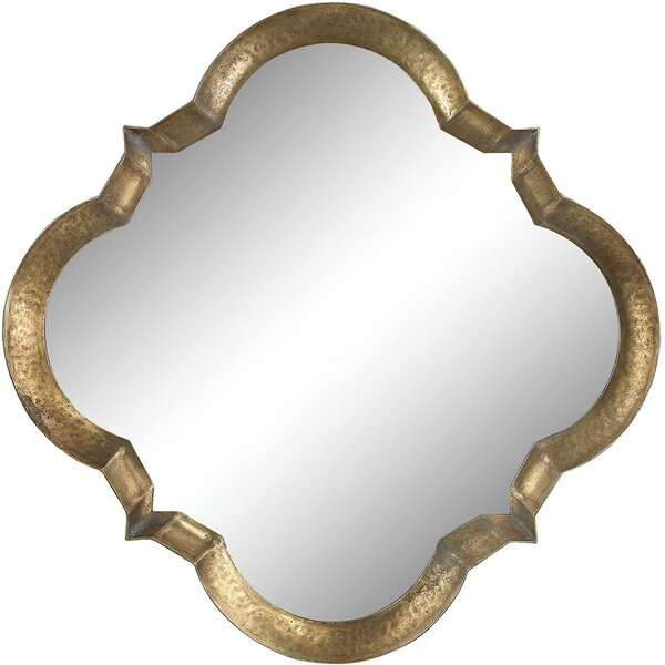 Silver Composite Quatrefoil Accent Wall Mirror by House of Hampton