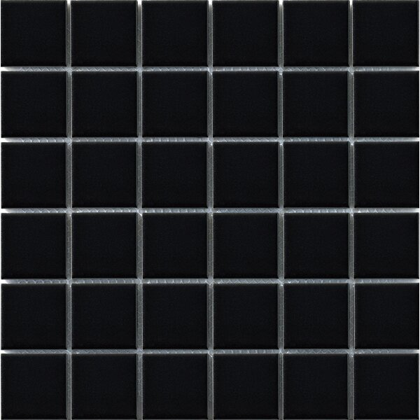 Vintage 2 x 2 Porcelain Mosaic Tile in Black by Walkon Tile