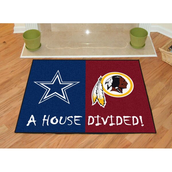 NFL House Divided - Cowboys / Redskins House Divided Mat by FANMATS