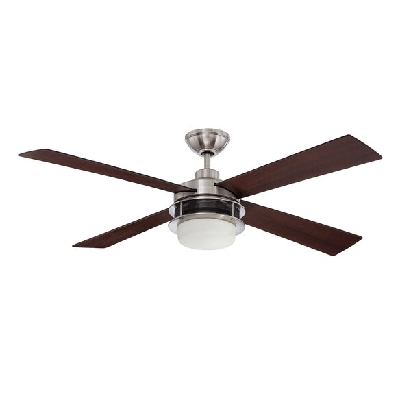 52 Javonte 4-Blade Ceiling Fan with Wall Remote by 17 Stories