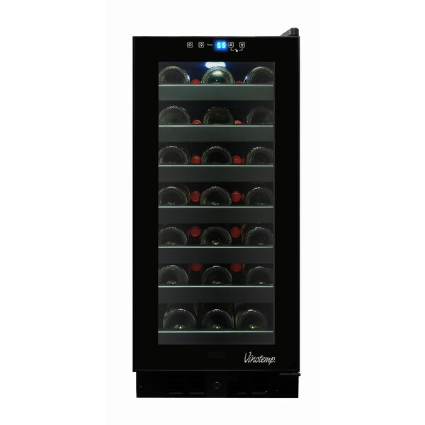 33 Bottle Touch Screen Freestanding Wine Cooler by Vinotemp