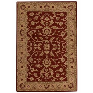 Morley Hand-Woven Wool Red/Gold Area Rug