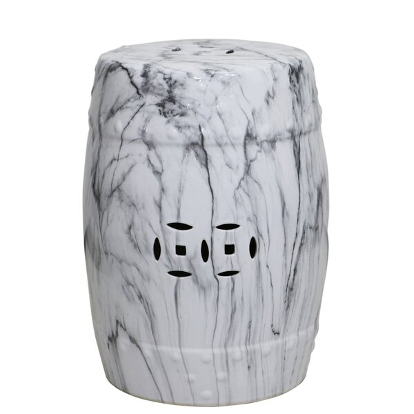 Carolos Marble Bianco Garden Stool by Zipcode Design