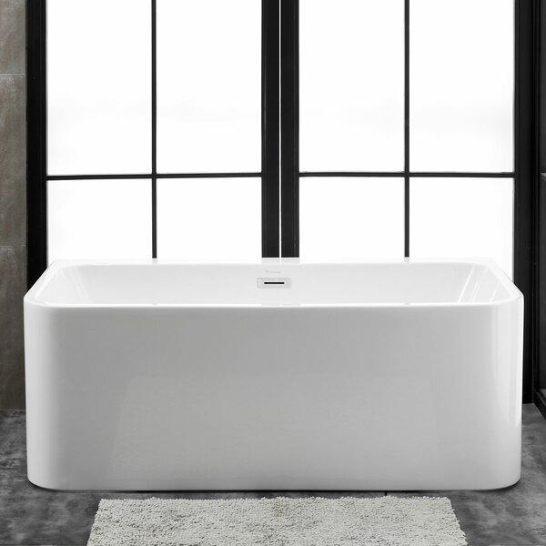 Bordeaux 59 L x 28 W Freestanding Soaking Bathtub by Finesse