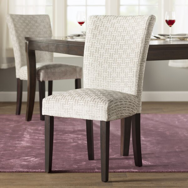 Sture Link Print Upholstered Dining Chair (Set of 2) by Willa Arlo Interiors
