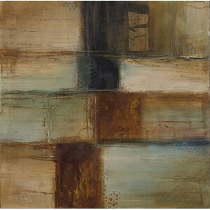 'Modern Abstract' 2 Piece Stretcher Bar Frame Oil Painting Print Set on Canvas (Set of 2) by George Oliver