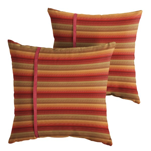 Hobbs Indoor/Outdoor Throw Pillow (Set of 2) by Latitude Run