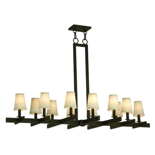 Kinslow 12 - Light Shaded Chandelier by Millwood Pines Millwood Pines
