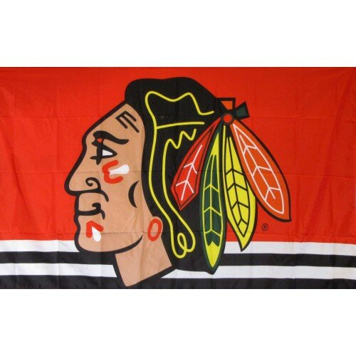 Portland Winterhawks with Feather Polyester 3 x 5 ft. Flag by NeoPlex
