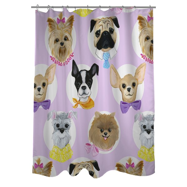 Love from NYC 10 Dogs Shower Curtain by One Bella Casa