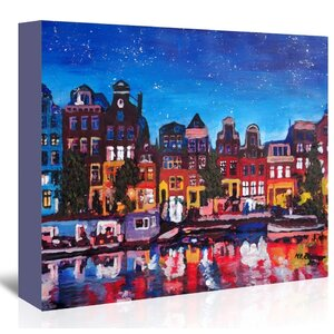 Amsterdam Stars2 Painting on Wrapped Canvas by East Urban Home