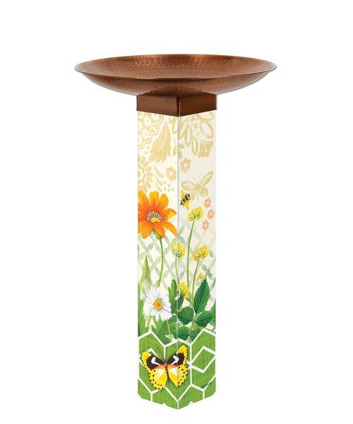 Daisy Garden Birdbath by Studio M