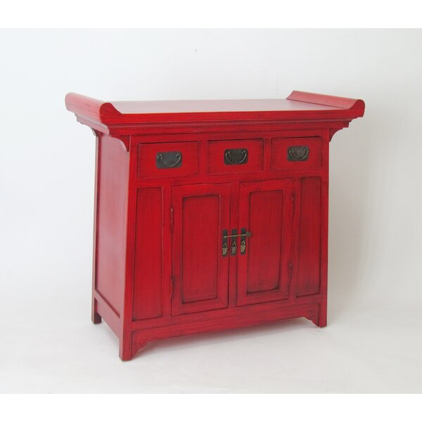 Scholl Oriental 2 Door Accent Cabinet by World Menagerie World Menagerie