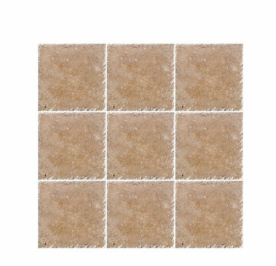 Chiseled 4 x 4 Travertine Field Tile in Noce by Parvatile