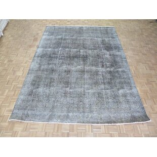Read Reviews One-of-a-Kind Beason Overdyed Persian Hand-Knotted Wool Gray Area Rug By Isabelline