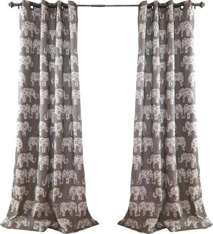 Viv Rae Hector Wildlife Room Darkening Grommet Curtain