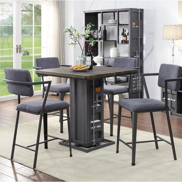 Jamar 5 Piece Dining Set By Breakwater Bay