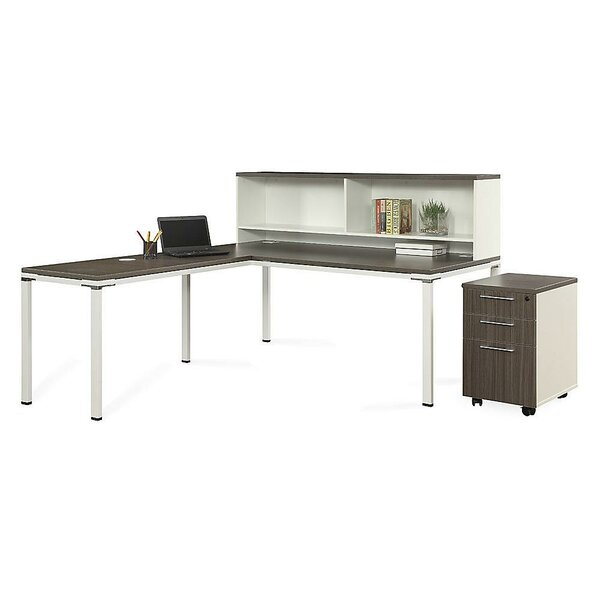 Element L-Shape Executive Desk with Hutch