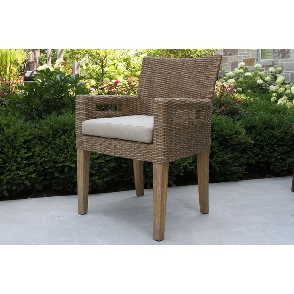 Bayswater Patio Dining Chair with Cushion (Set of 2) by Rosecliff Heights