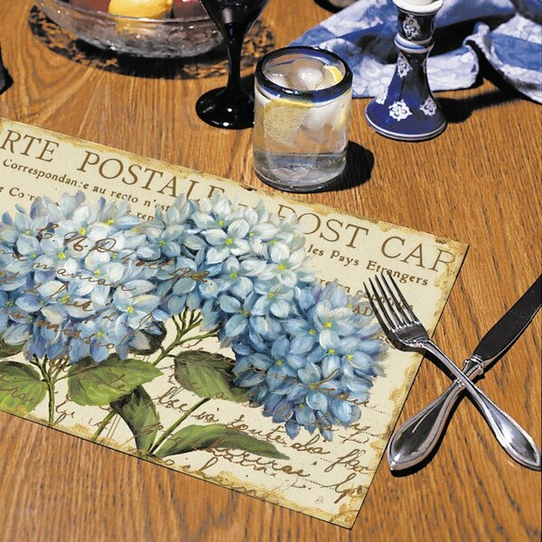 Hydrangeas Paper Placemat (Set of 24) by CounterArt