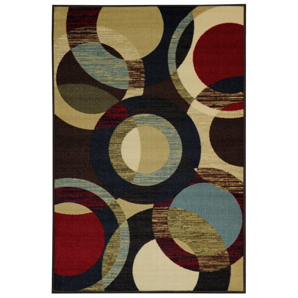 Beauchamp Square Black/Green Area Rug by Andover Mills