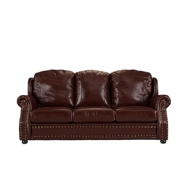 Hintz Leather Sofa by Williston Forge