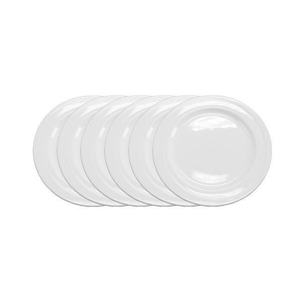 Elan 8'' Bread Plate Wide Rim (Set of 6) by BergHOFF International