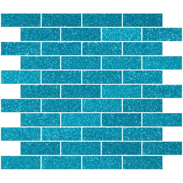 1 x 3 Glass Subway Tile in Glossy Turquoise blue by Susan Jablon