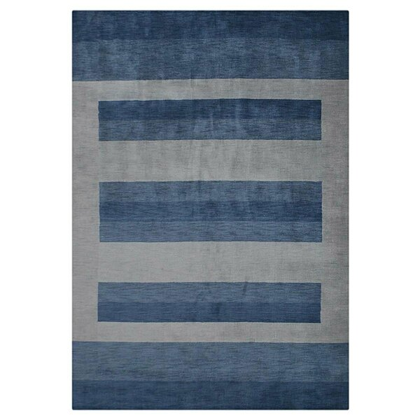 Ry Hand-Woven Wool Light Blue Area Rug by Latitude Run