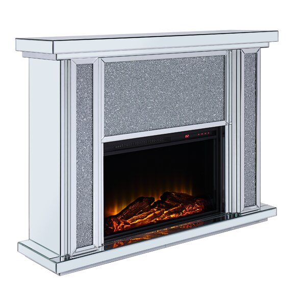Callisburg Mirrored Top Electric Fireplace By Mercer41