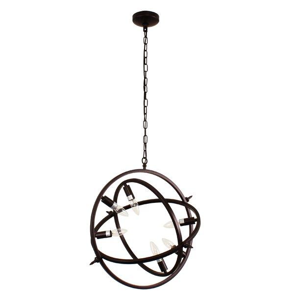 Dunnstown 6-Light Unique / Statement Globe Chandelier by Gracie Oaks Gracie Oaks