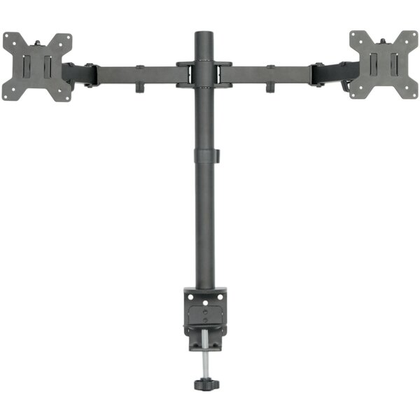 Dual LCD Monitor Heavy Duty Height Adjustable 2 Screens Desk Mount by Vivo