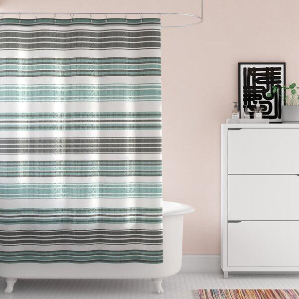 Lucio Stripe Shower Curtain by Wrought Studio
