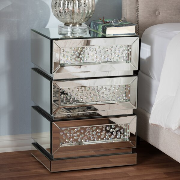 Spicer 3 Drawer Nightstand by Ebern Designs
