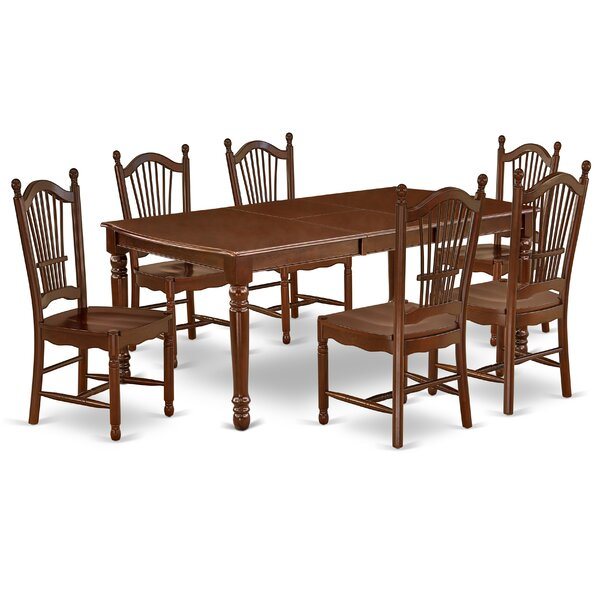 Donita 7 Piece Extendable Solid Wood Dining Set by Alcott Hill Alcott Hill