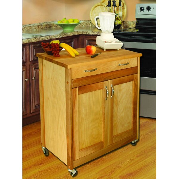 Designer Kitchen Cart with Wood Top by Catskill Craftsmen, Inc.